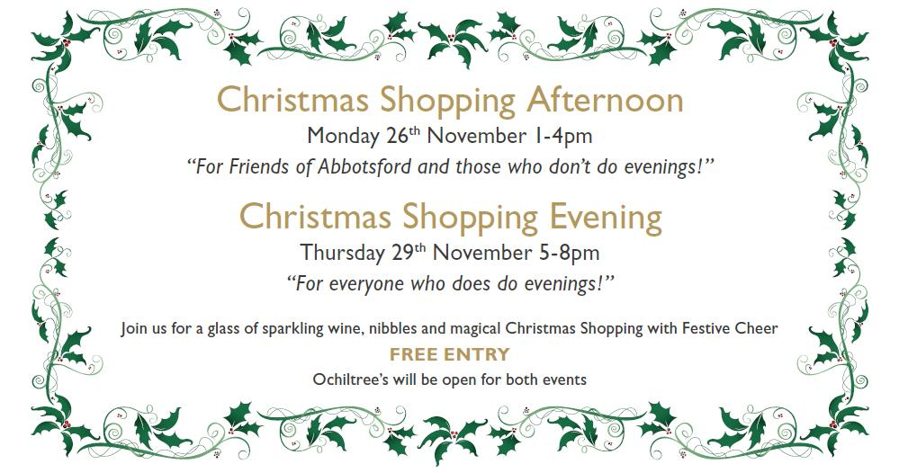 Christmas Shopping events at Abbotsford House 2012